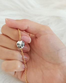 Bracelet perle fleurs or 24k