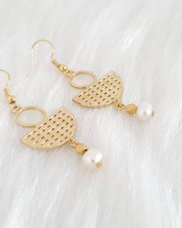 Boucles d'oreilles pendentif nacre