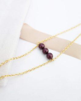 Bracelet perle Swarovski prune