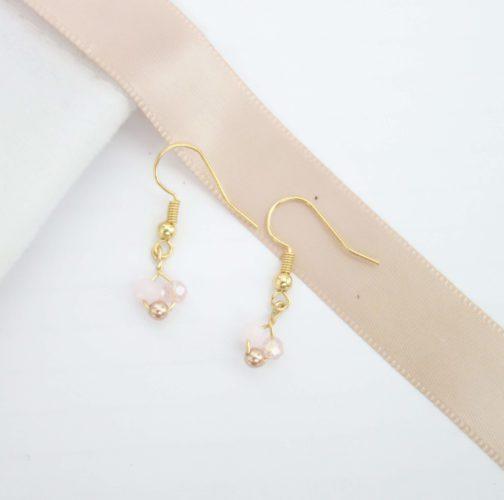 Boucles d'oreilles rose pastel