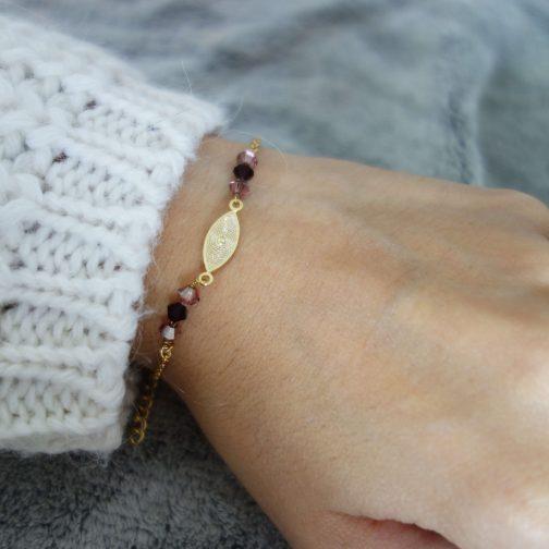 Bracelet chaine perles swarovski