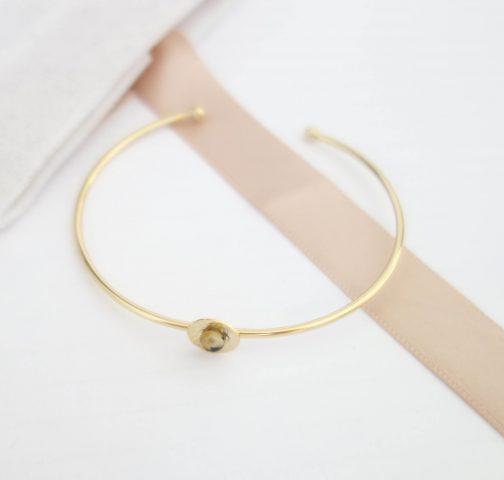 Bracelet jonc Jaspe Dalmatien