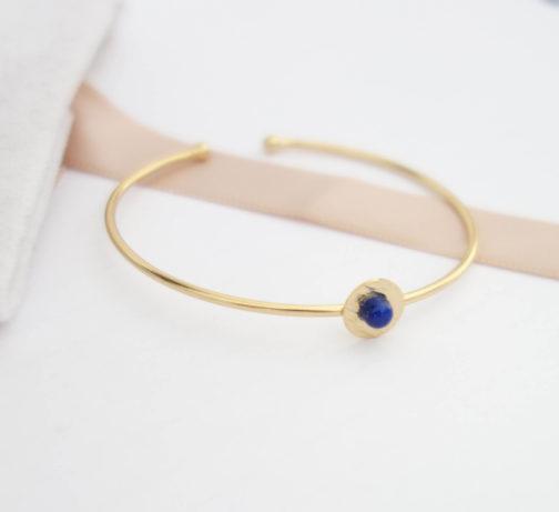 Bracelet jonc lapis lazuli