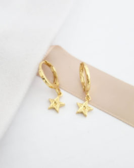 Boucles d'oreilles dormeuses étoile