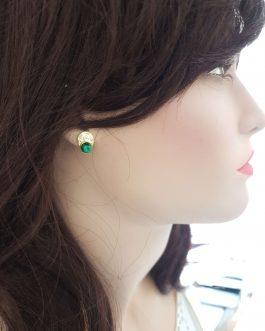 Boucles d'oreilles martelée malachite