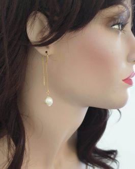 Boucles d'oreilles pendantes nacre