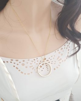 Collier cercle perle