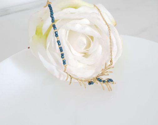 Collier branche et perles