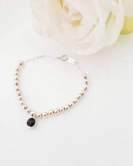 Bracelet perles argent925 onyx