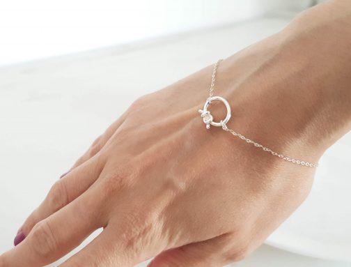 Bracelet nœud argent 925