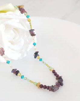 Collier coloré pierres naturelles