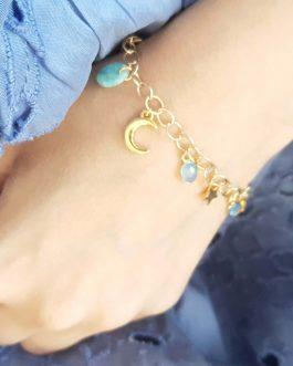 Bracelet pampilles amazonite nacre