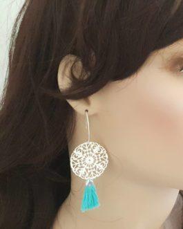 Boucles d'oreilles estampe pompon