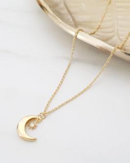Collier lune zircon