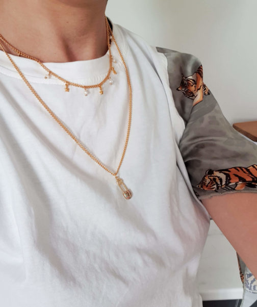 Duo collier épingle/ras de cou