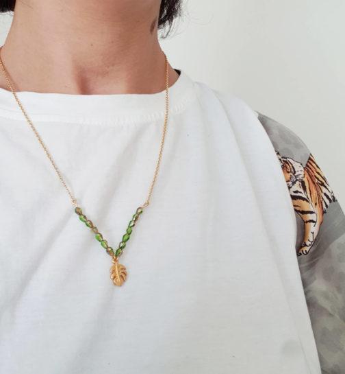Collier tropical vert