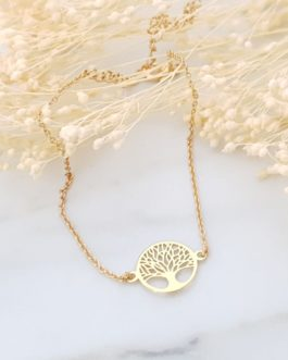 Bracelet arbre de vie doré