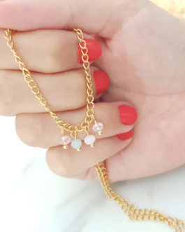 Collier perles pastels