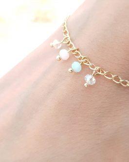 Bracelet perles pastels