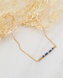 Bracelet fin perles bleues