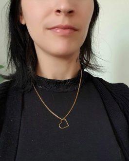 Collier cœur plaqué or