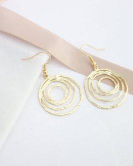 Boucles d'oreilles cercles emmêlés