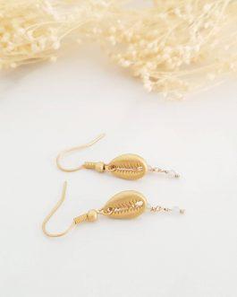 Boucles d'oreilles cauris mat