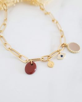 Collier maillons larges pampilles