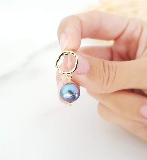 Boucles d'oreilles perle d'eau